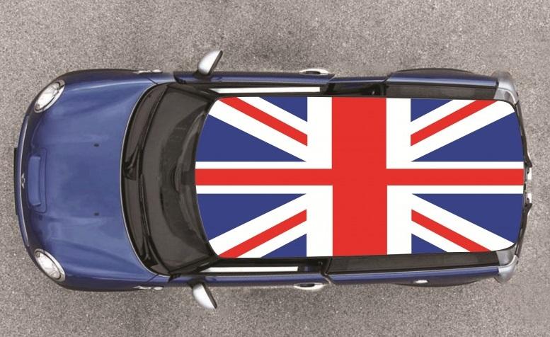 drapeaux anglais pour toit de voiture