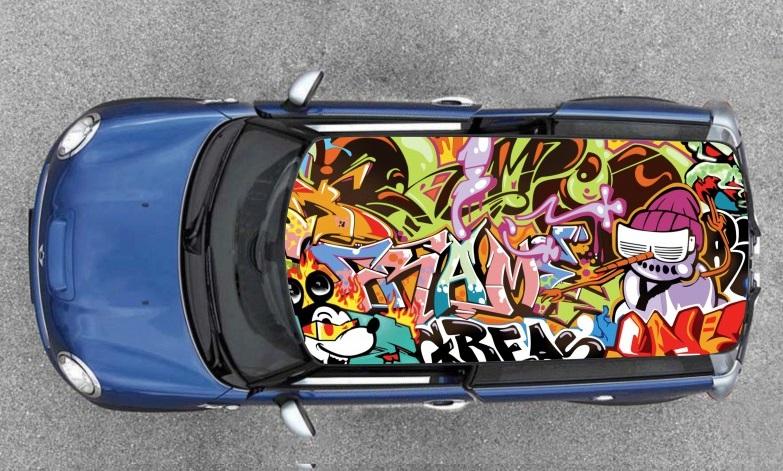 film covering Stickers bomb pour toit de voiture