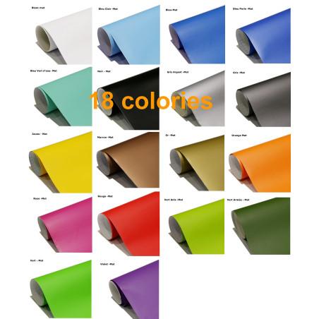 rouleau film adhésif mat- 18 couleurs