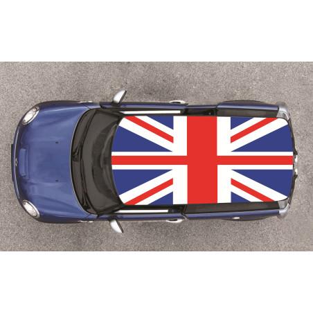 Film adhésif drapeau anglais pour toit de voiture