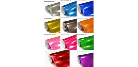 rouleaux film chrome covering 11 couleurs
