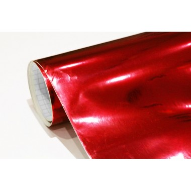 film adhesif chrome rouge pour covering