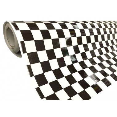 covering stickers damier noir et blanc