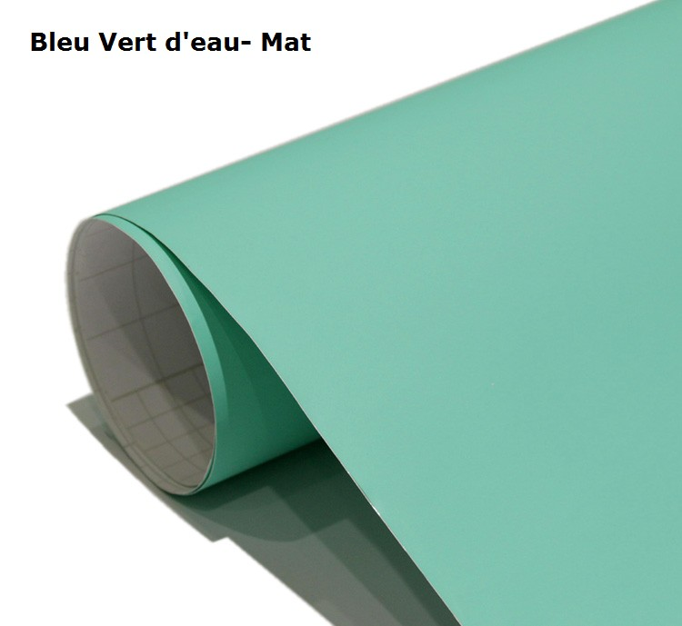bleu -vert d'eau-Mat